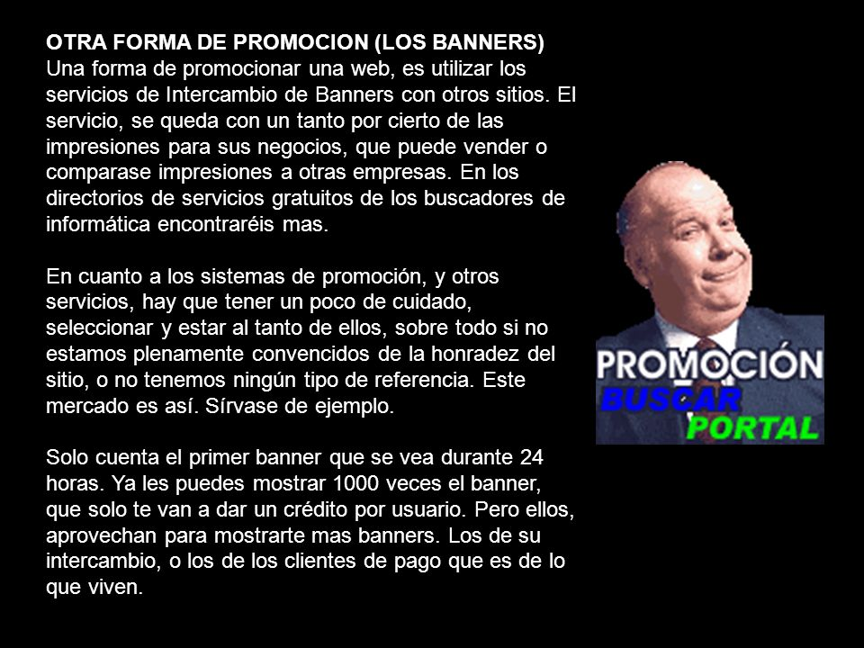 OTRA FORMA DE PROMOCION (LOS BANNERS)