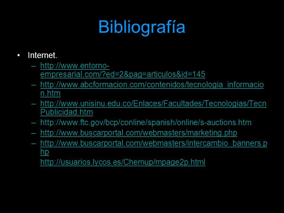 Bibliografía Internet.