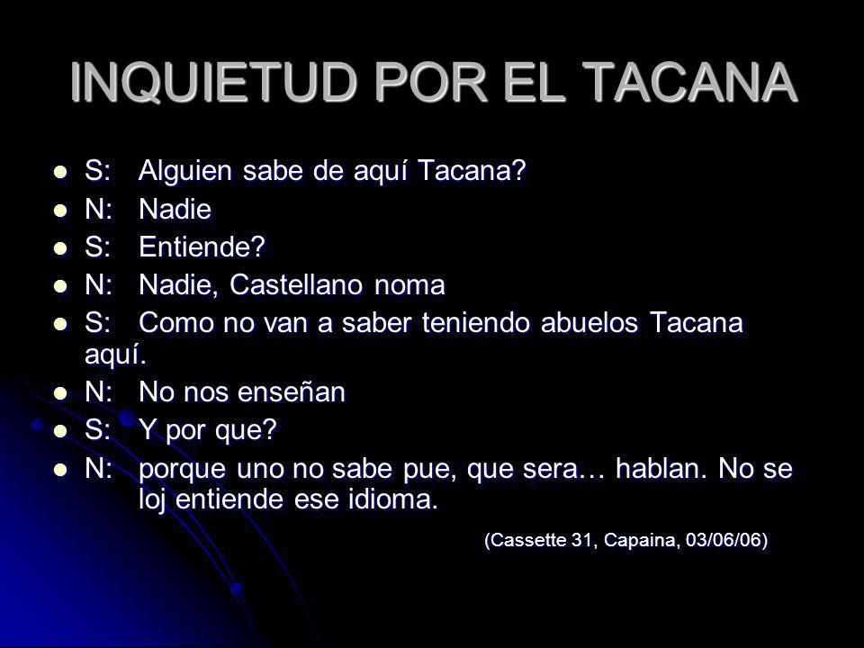 INQUIETUD POR EL TACANA