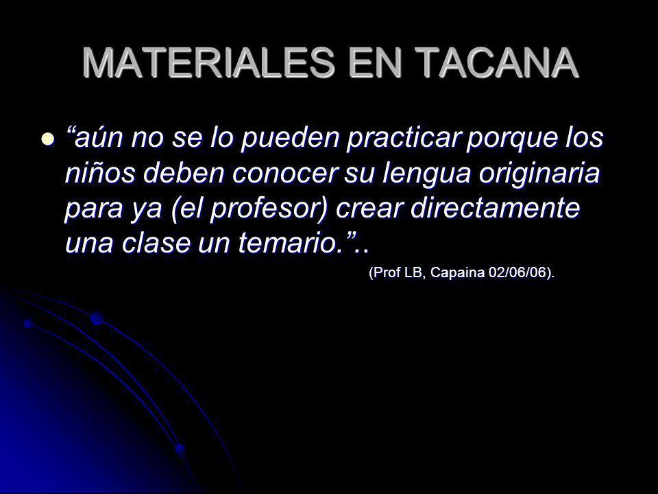 MATERIALES EN TACANA