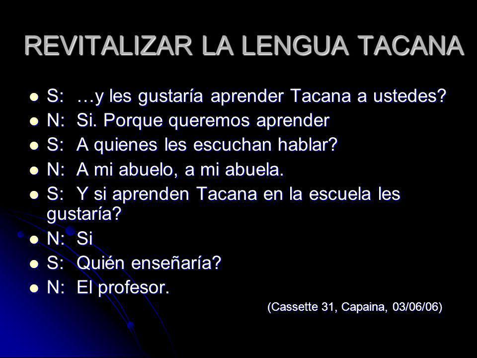 REVITALIZAR LA LENGUA TACANA