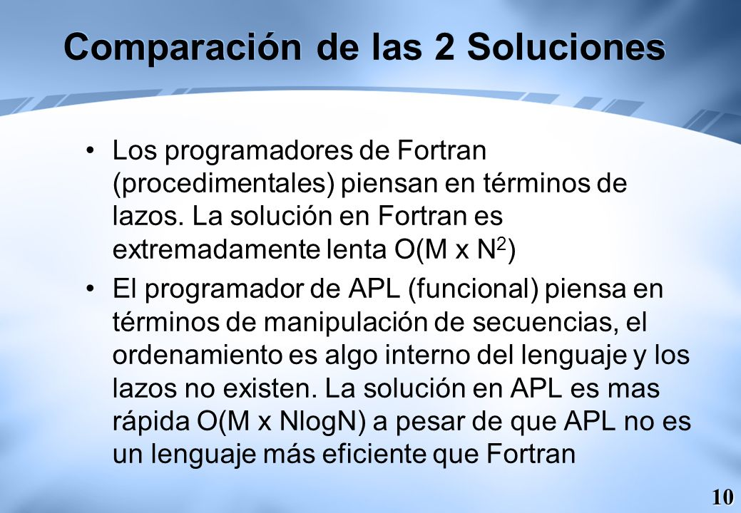 Comparación de las 2 Soluciones