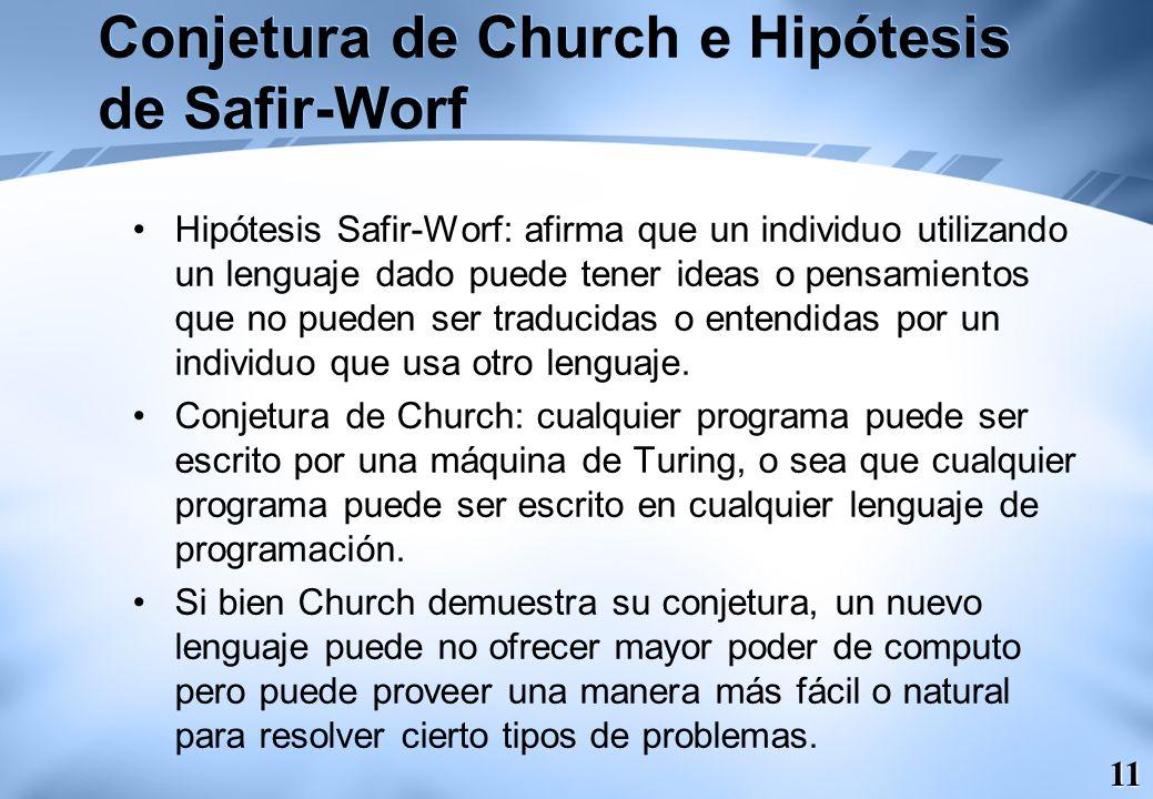 Conjetura de Church e Hipótesis de Safir-Worf