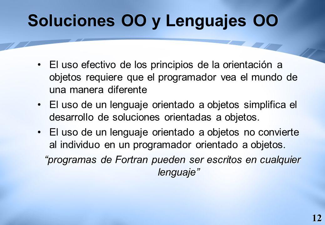 Soluciones OO y Lenguajes OO