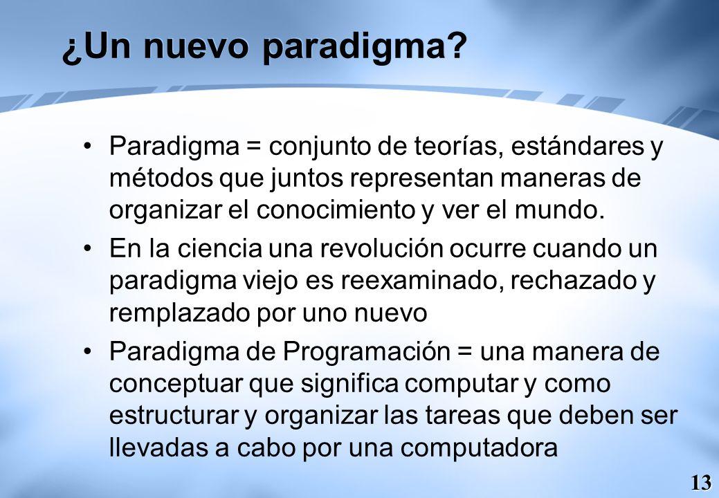 ¿Un nuevo paradigma