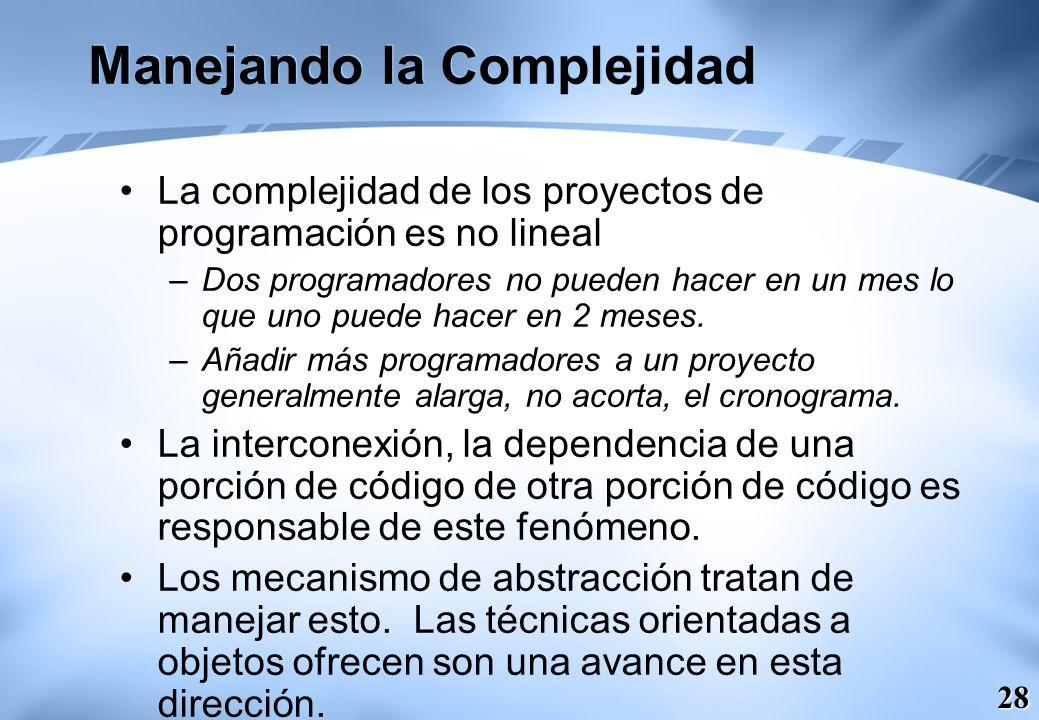 Manejando la Complejidad