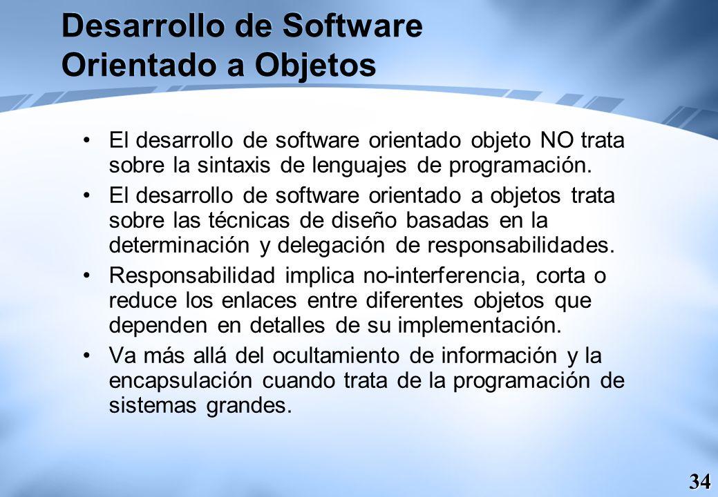 Desarrollo de Software Orientado a Objetos