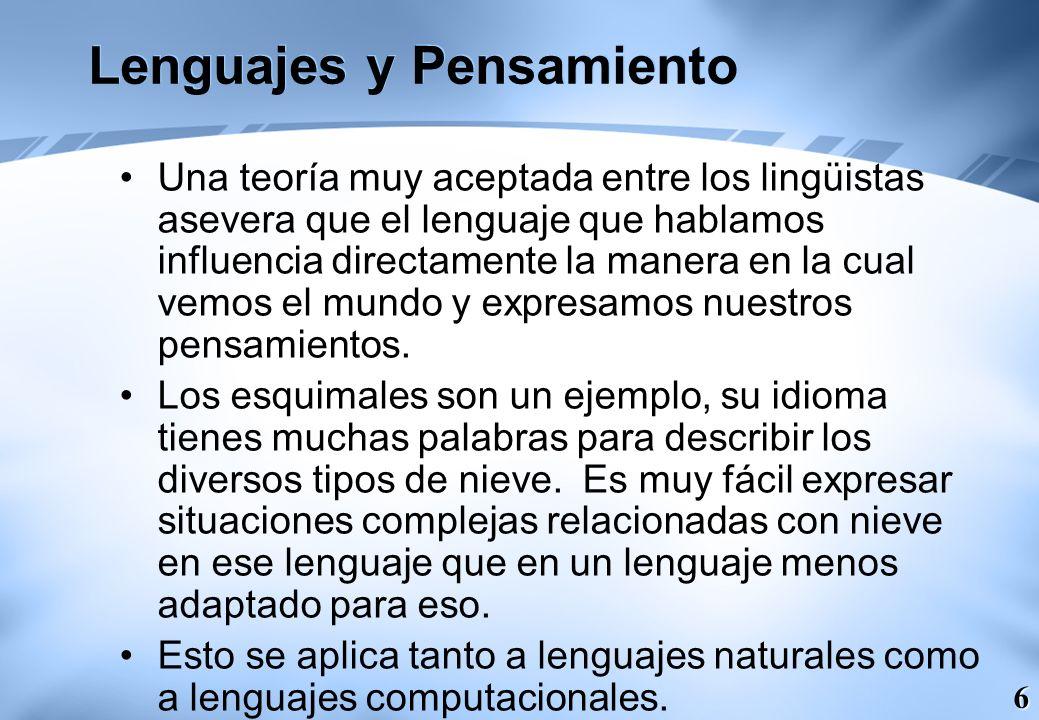 Lenguajes y Pensamiento