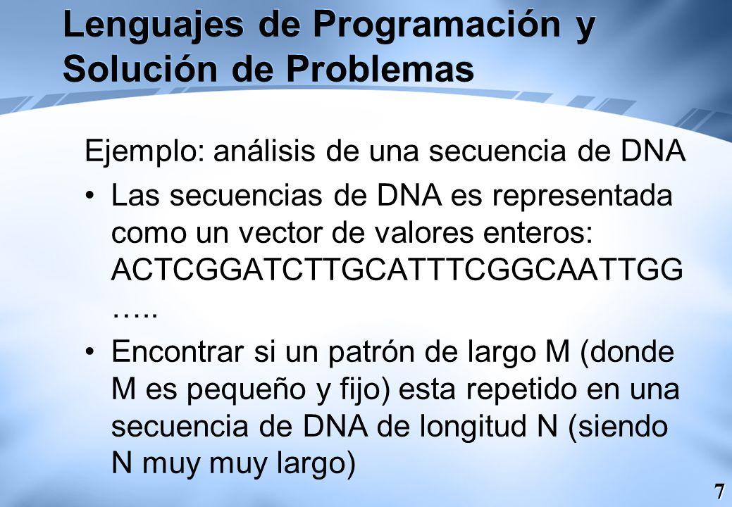Lenguajes de Programación y Solución de Problemas