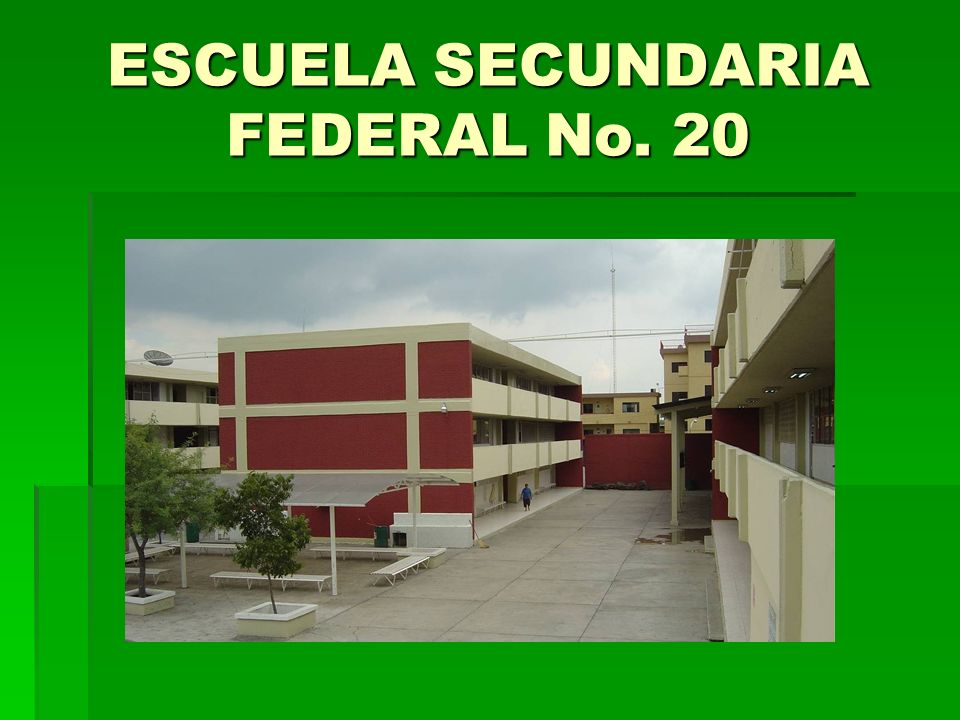 ESCUELA SECUNDARIA FEDERAL No. 20