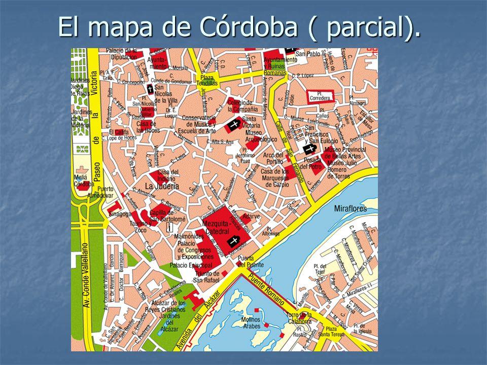 El mapa de Córdoba ( parcial).