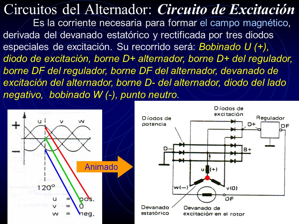 Circuitos del Alternador: Circuito de Excitación