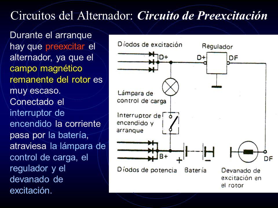 Circuitos del Alternador: Circuito de Preexcitación