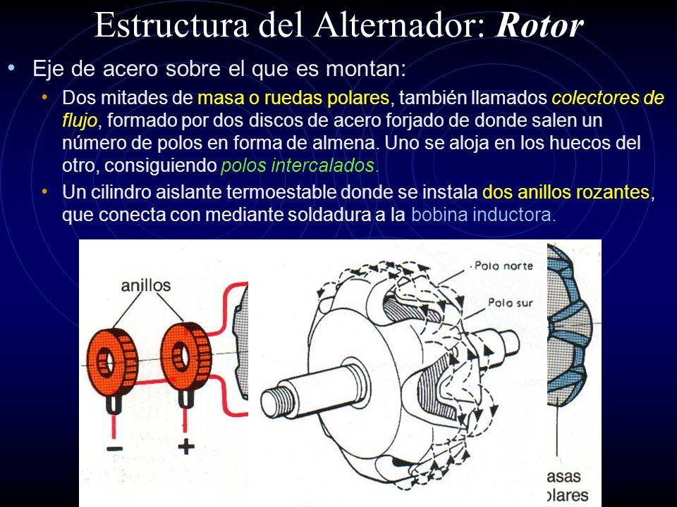 Estructura del Alternador: Rotor