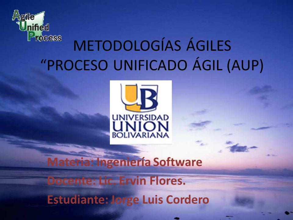 METODOLOGÍAS ÁGILES PROCESO UNIFICADO ÁGIL (AUP)