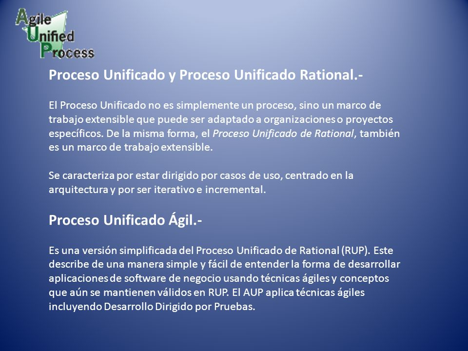 Proceso Unificado y Proceso Unificado Rational.-
