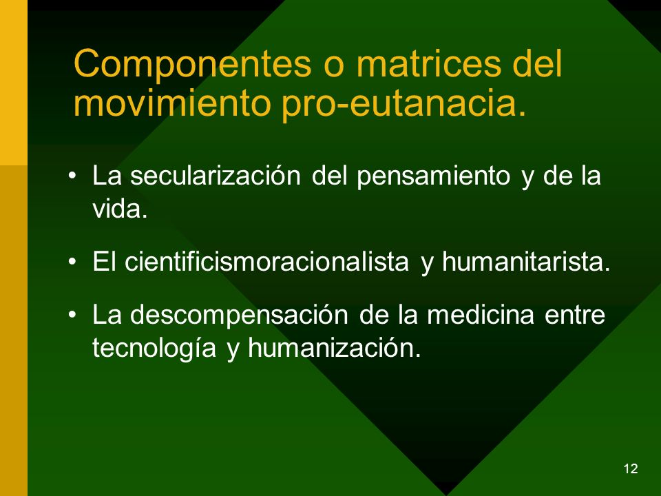 Componentes o matrices del movimiento pro-eutanacia.