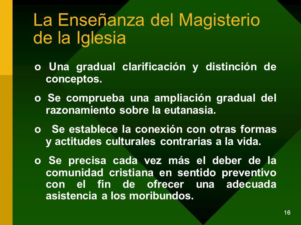 La Enseñanza del Magisterio de la Iglesia