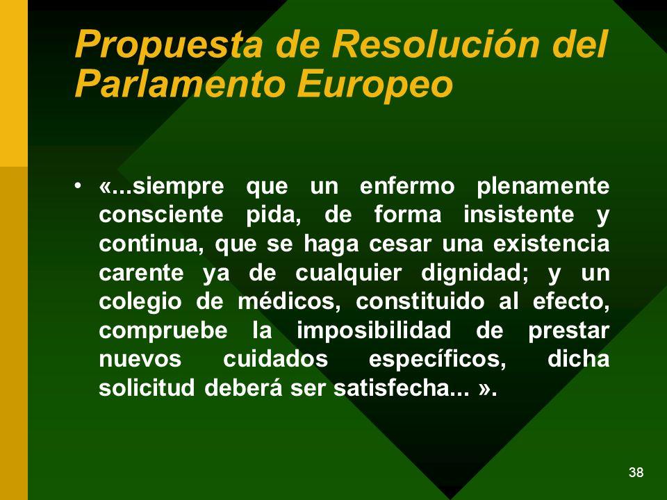 Propuesta de Resolución del Parlamento Europeo