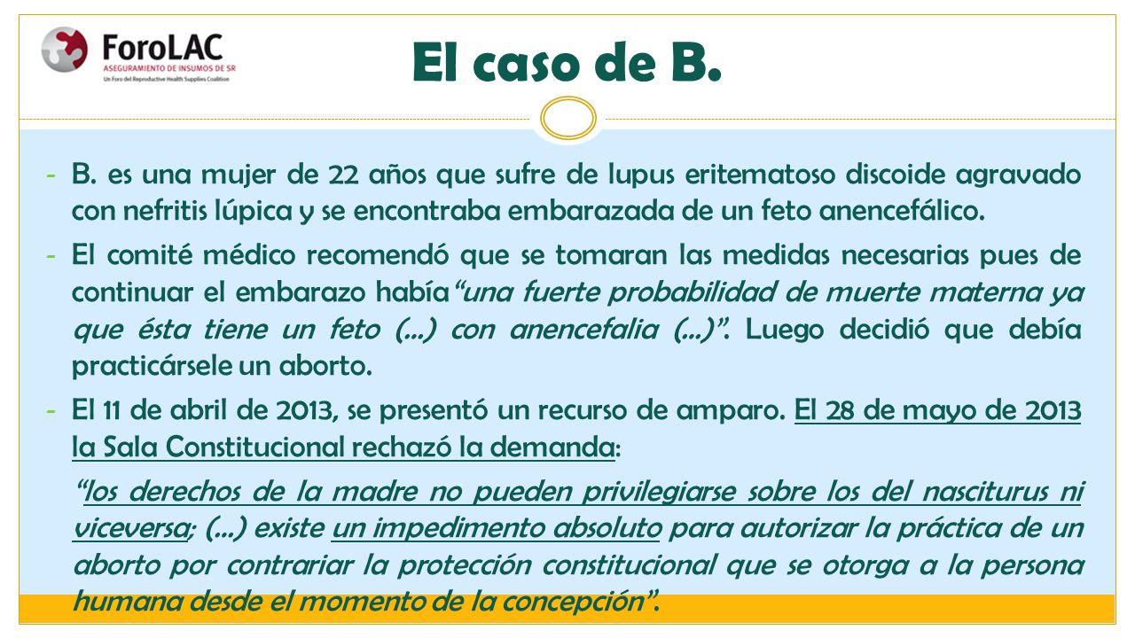 El caso de B.