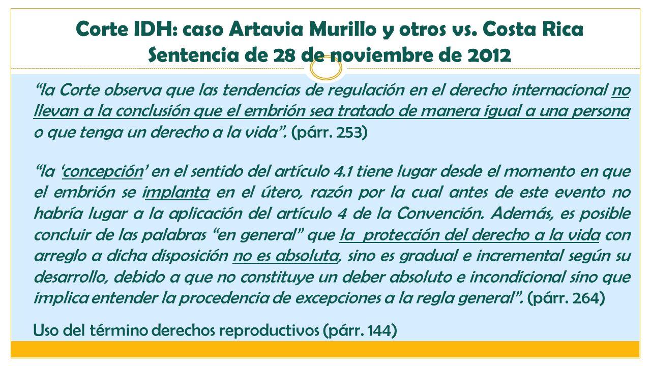Corte IDH: caso Artavia Murillo y otros vs. Costa Rica