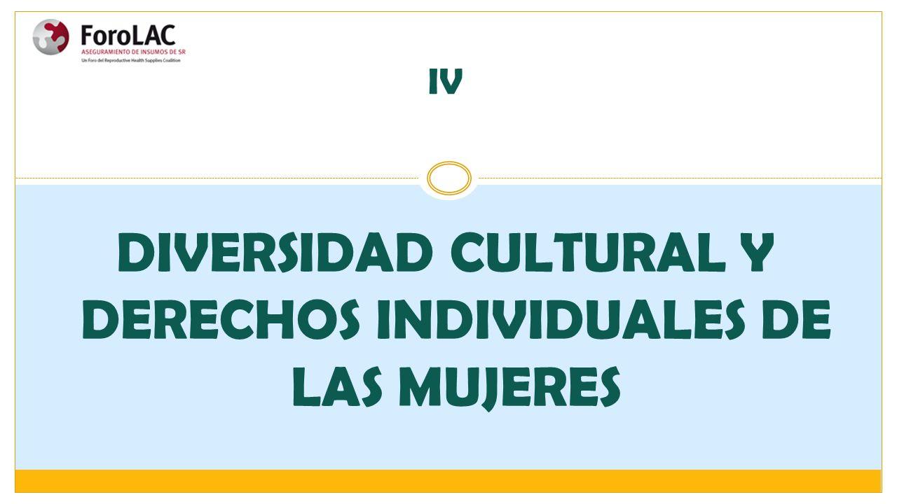 DIVERSIDAD CULTURAL Y DERECHOS INDIVIDUALES DE LAS MUJERES