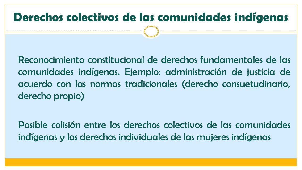 Derechos colectivos de las comunidades indígenas