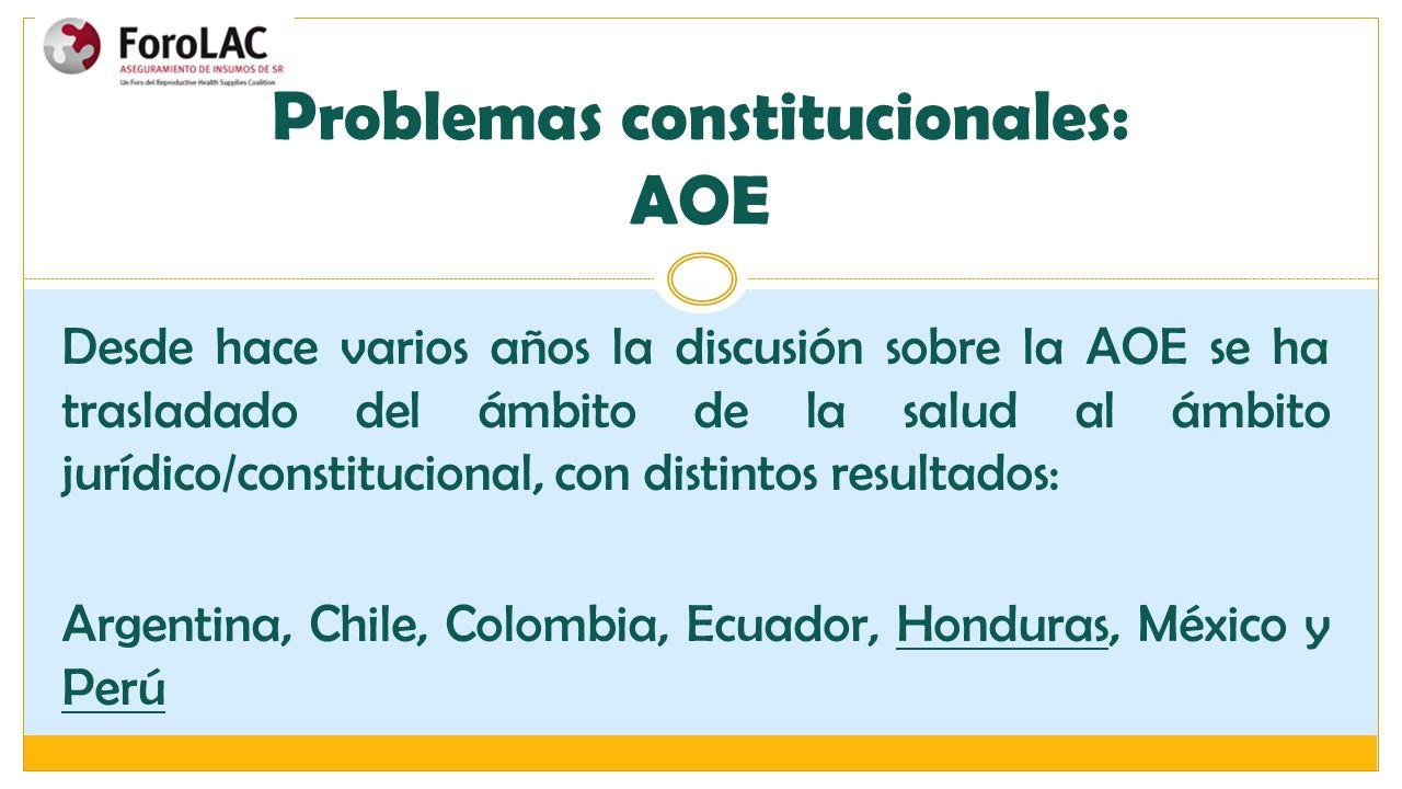 Problemas constitucionales: AOE