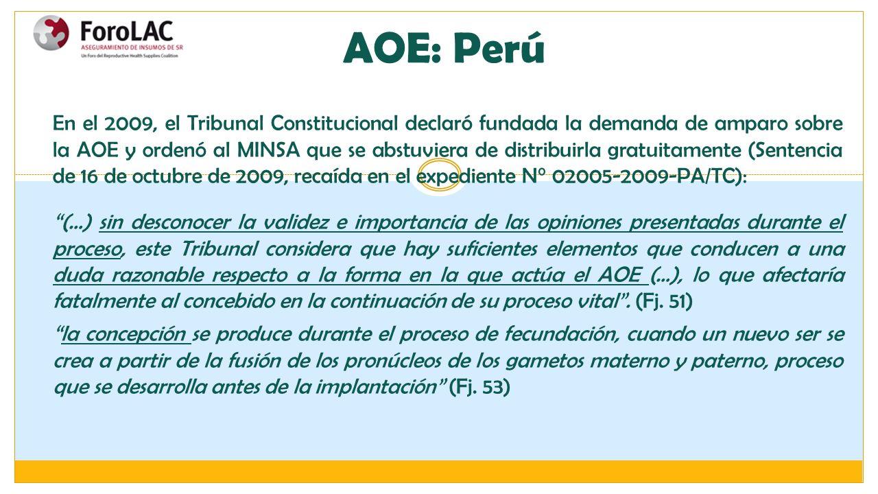 AOE: Perú