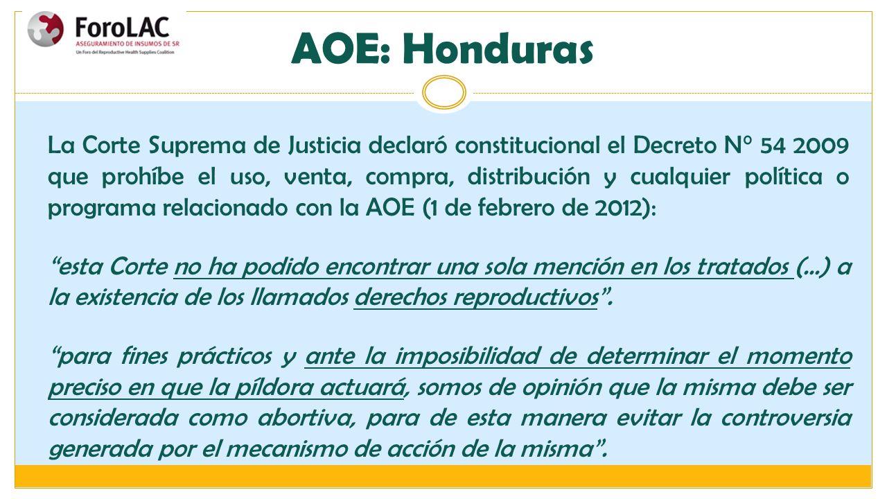 AOE: Honduras