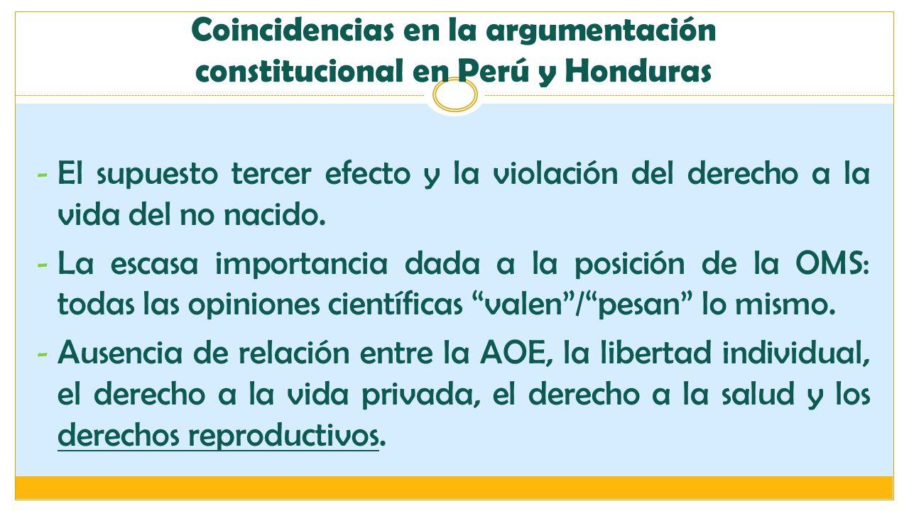 Coincidencias en la argumentación constitucional en Perú y Honduras
