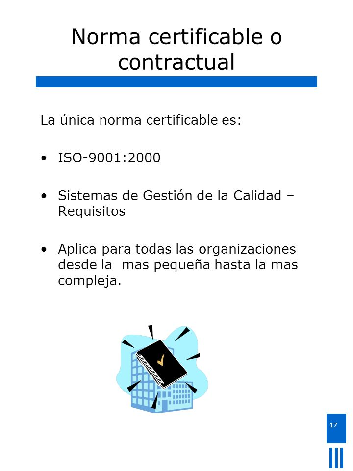 Norma certificable o contractual