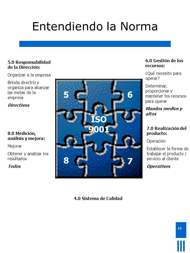 Entendiendo la Norma 5 5 6 ISO 9001 8 ISO 9001 8 7