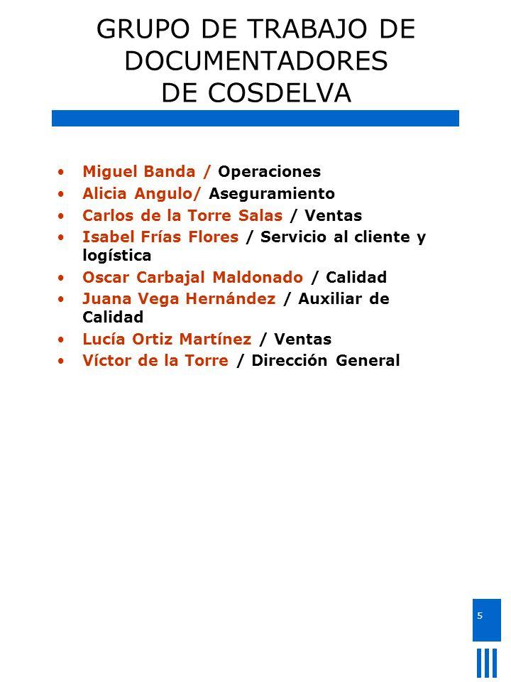 GRUPO DE TRABAJO DE DOCUMENTADORES DE COSDELVA
