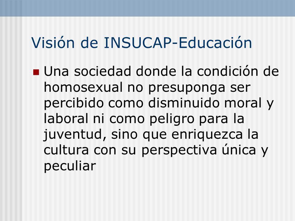 Visión de INSUCAP-Educación