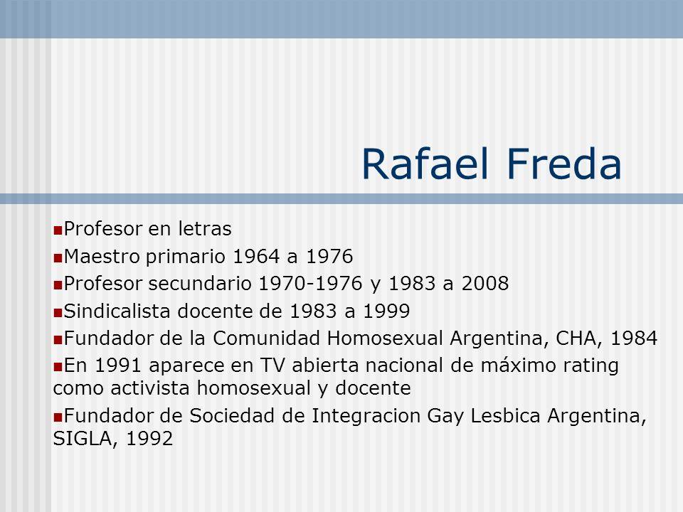 Rafael Freda Profesor en letras Maestro primario 1964 a 1976