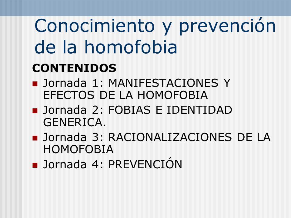 Conocimiento y prevención de la homofobia