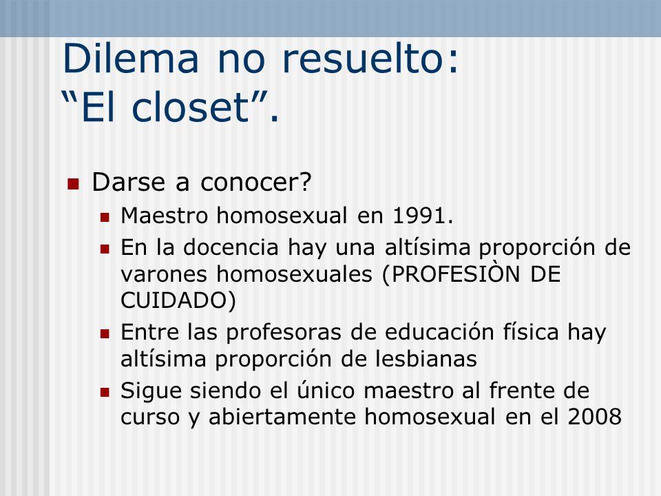 Dilema no resuelto: El closet .