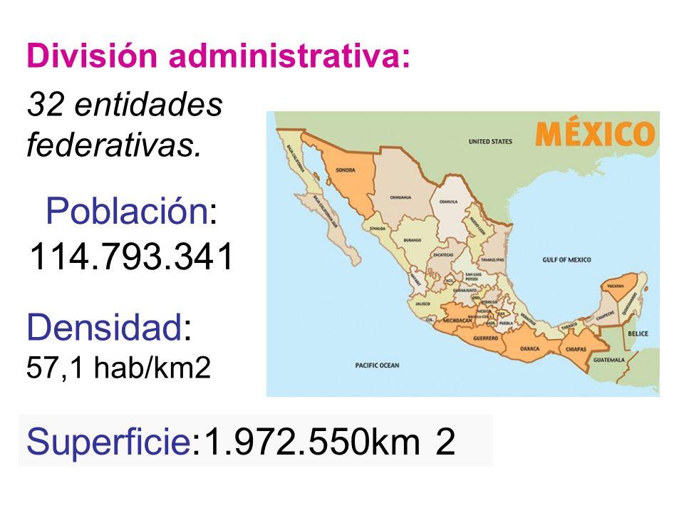 Población: 114.793.341 Densidad: Superficie:1.972.550km 2