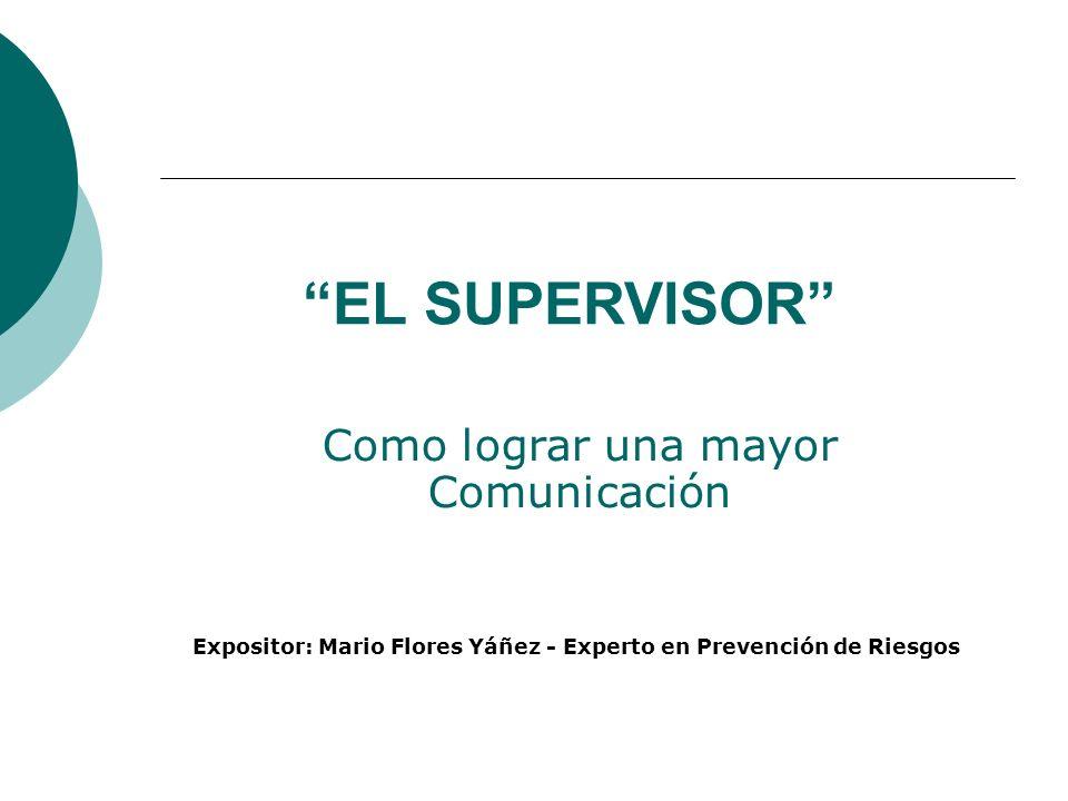 Expositor: Mario Flores Yáñez - Experto en Prevención de Riesgos