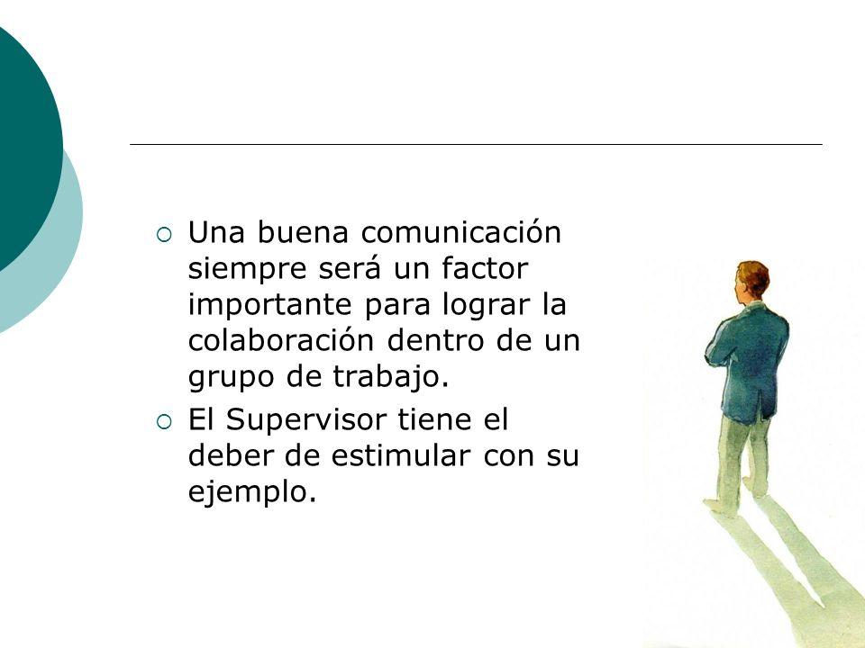 Una buena comunicación siempre será un factor importante para lograr la colaboración dentro de un grupo de trabajo.
