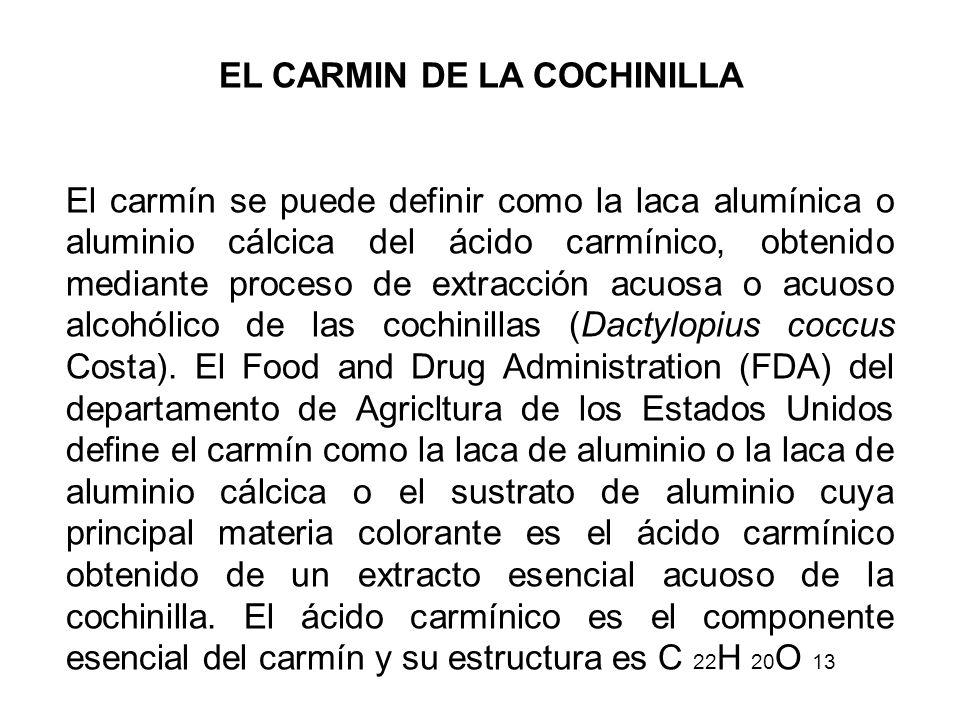 EL CARMIN DE LA COCHINILLA