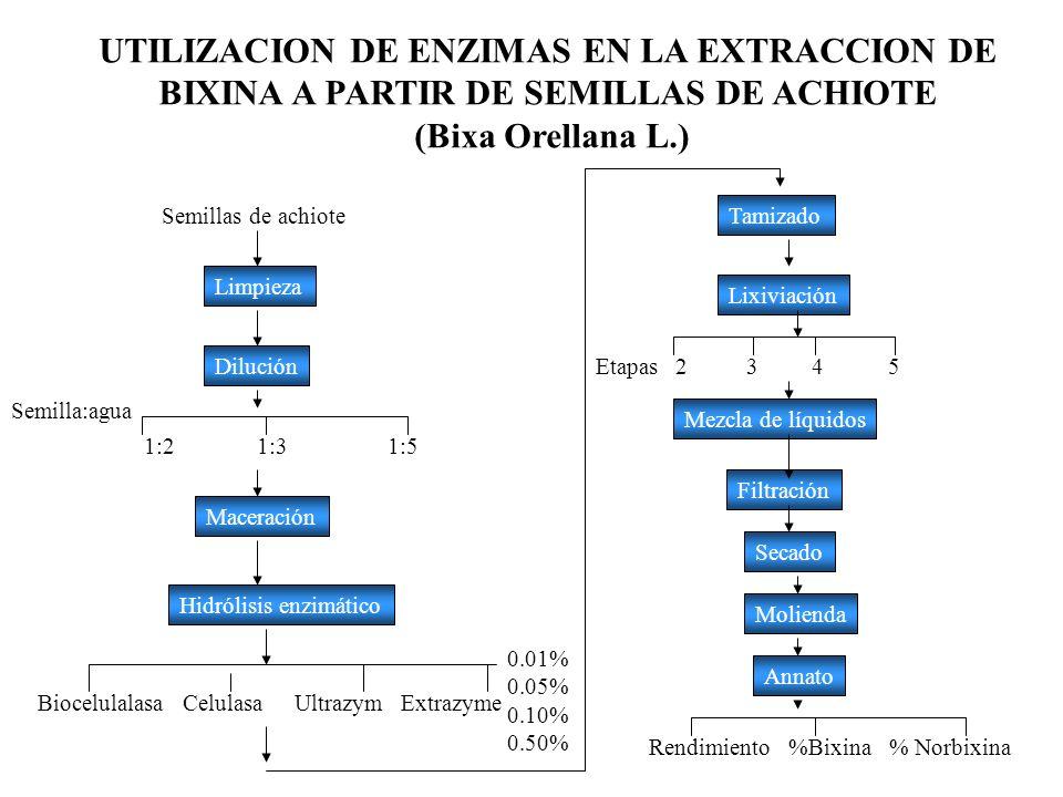 UTILIZACION DE ENZIMAS EN LA EXTRACCION DE