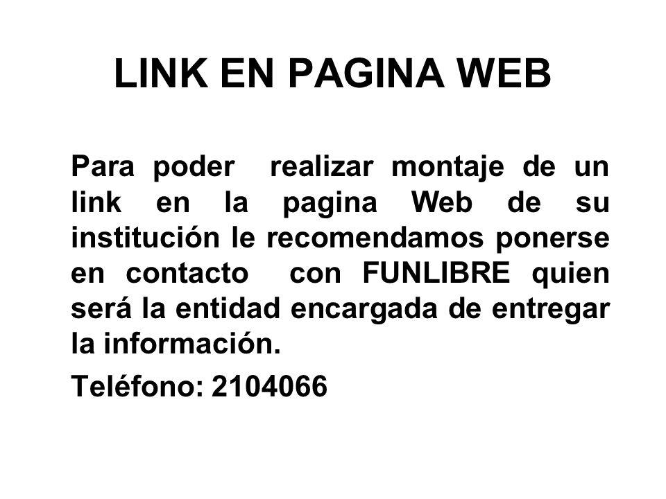 LINK EN PAGINA WEB