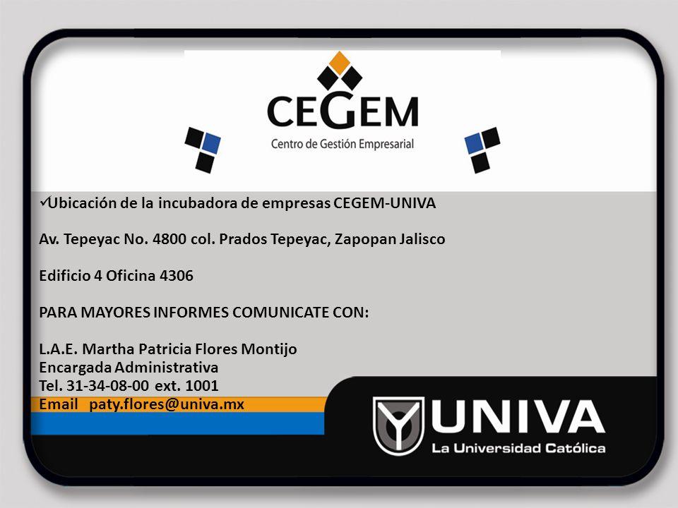 Ubicación de la incubadora de empresas CEGEM-UNIVA