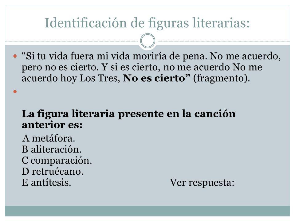 Identificación de figuras literarias: