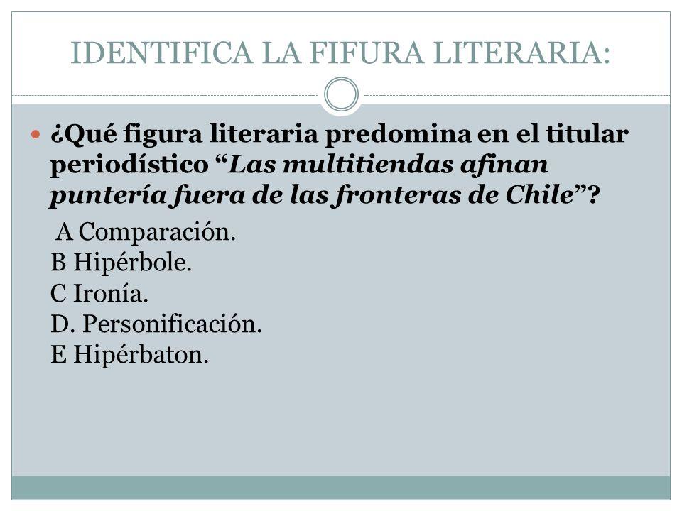 IDENTIFICA LA FIFURA LITERARIA: