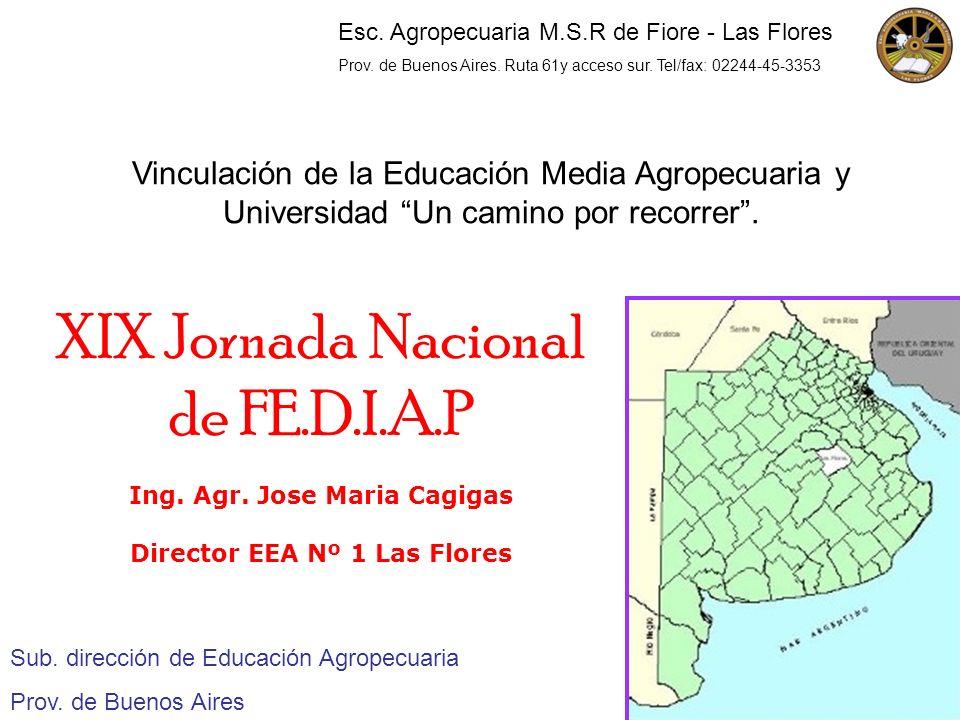 Ing. Agr. Jose Maria Cagigas Director EEA Nº 1 Las Flores