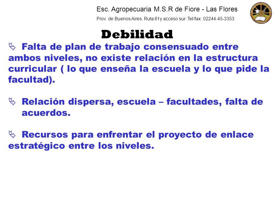 Esc. Agropecuaria M.S.R de Fiore - Las Flores