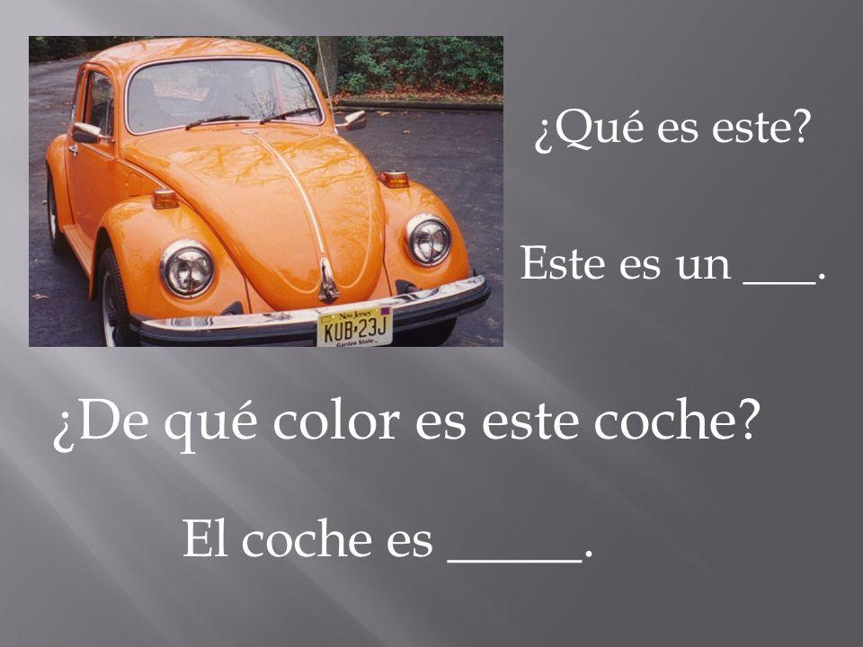 ¿De qué color es este coche